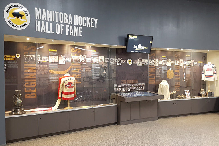 Manitoba Hockey Hall of Fame Interactive Installation in Bell MTS Iceplex
